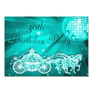 Princesa Treinamento & cavalos & aniversário de 30 Convite 12.7 X 17.78cm