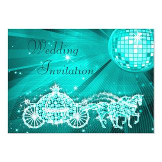 Princesa Treinamento, cavalos & casamento da bola Convite 12.7 X 17.78cm