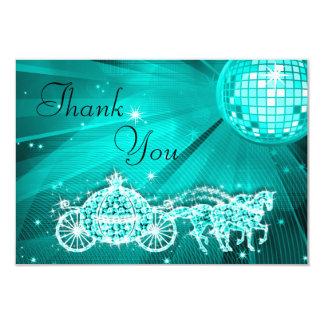Princesa Treinamento & cavalos & obrigado da bola Convite 8.89 X 12.7cm