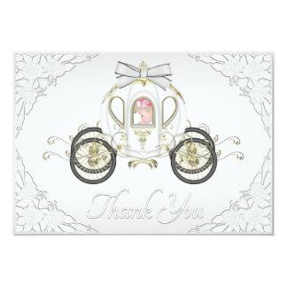 Princesa Treinamento do bebé e obrigado branco dos Convite 8.89 X 12.7cm