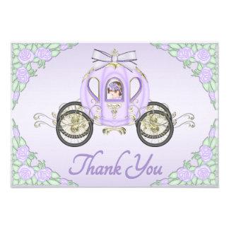 Princesa Treinamento do bebé e obrigado do Lilac Convite Personalizado