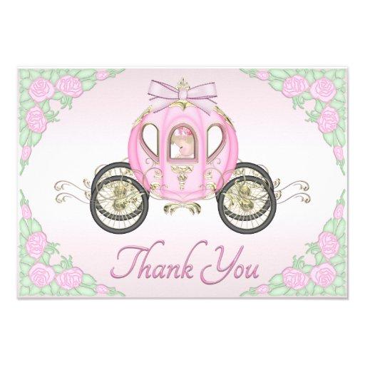Princesa Treinamento do bebé e obrigado do rosa de Convite Personalizados