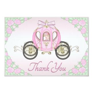 Princesa Treinamento do bebé e obrigado do rosa de Convite 8.89 X 12.7cm