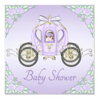 Princesa Treinamento e chá de fraldas do Lilac dos Convite Quadrado 13.35 X 13.35cm