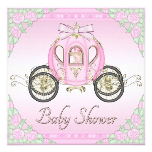Princesa Treinamento e chá de fraldas do rosa de Convite Personalizado