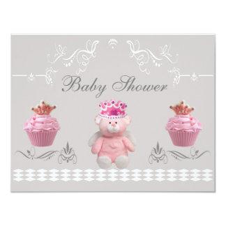 Princesa Ursinho & chá de fraldas cor-de-rosa dos Convite Personalizado