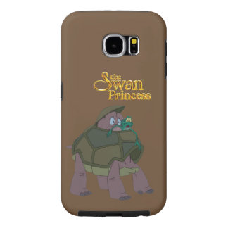 Princesa Velocidade da cisne e caixa da galáxia S6 Capa Para Samsung Galaxy S6