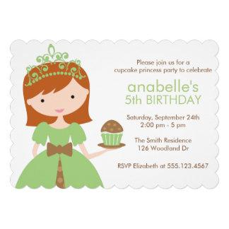 Princesa verde festa de aniversário do cupcake