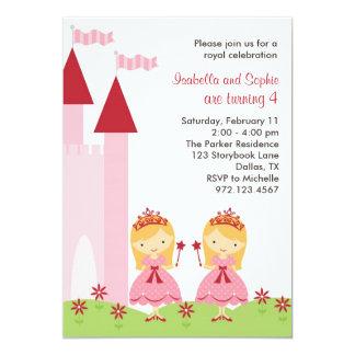 Princesas louras bonito Convite