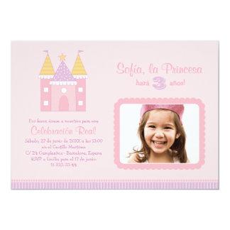 Princess Invitación de la Fiesta de Cumpleaños Convite 12.7 X 17.78cm
