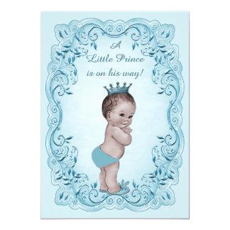 Príncipe azul chá de fraldas do vintage convite