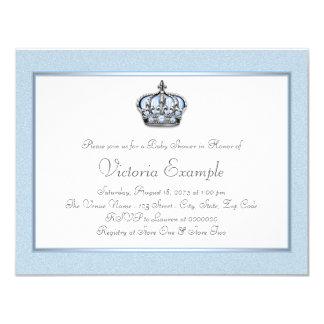 Príncipe azul e branco chá de fraldas convite 10.79 x 13.97cm