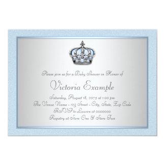 Príncipe azul e de prata chá de fraldas convite 12.7 x 17.78cm