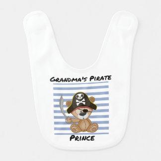 Príncipe Bebê Babador do pirata da avó