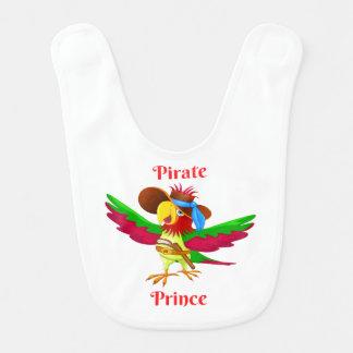 Príncipe Bebê Babador do pirata do papagaio