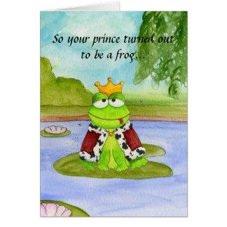 Príncipe Cartão do sapo
