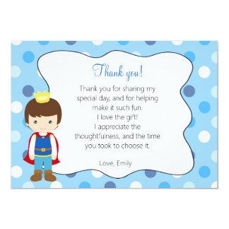 Príncipe cartões de agradecimentos