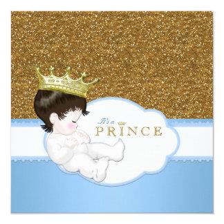 Príncipe chá de fraldas convite personalizado