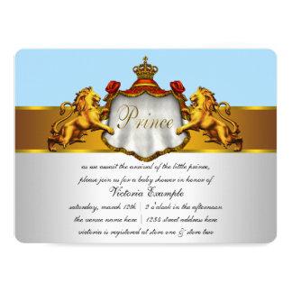 Príncipe chá de fraldas dos azuis bebés convite 16.51 x 22.22cm