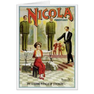 Príncipe de Nicola do ato mágico do mágico do Cartão De Nota