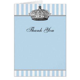Príncipe de prata Agradecimento Você Cartão dos