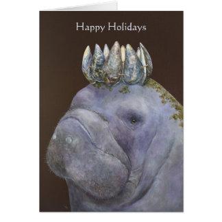 Príncipe do cartão feliz do feriado dos peixes-boi