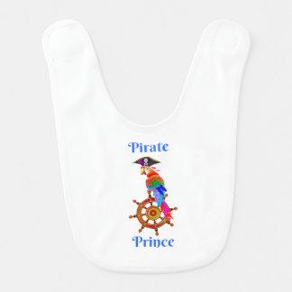 Príncipe do pirata - babador do bebê do papagaio