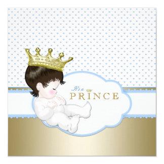 Príncipe doce chá de fraldas convites personalizado