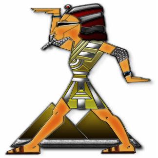 Príncipe Doing Funky Egípcio Dança Escultura Fotos