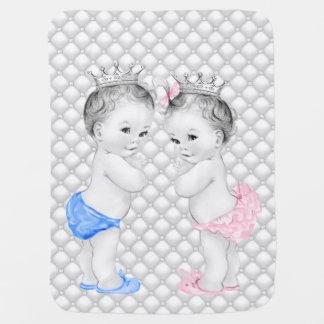 Príncipe e princesa Gêmeo Bebê Manta De Bebe