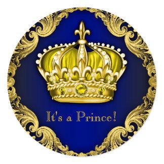 Príncipe extravagante chá de fraldas convites personalizado