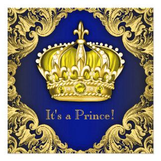 Príncipe extravagante chá de fraldas convites personalizados
