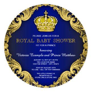 Príncipe extravagante chá de fraldas convite quadrado 13.35 x 13.35cm