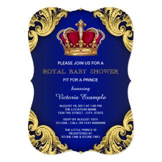 Príncipe extravagante real chá de fraldas convite 12.7 x 17.78cm