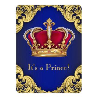 Príncipe extravagante real chá de fraldas convite 16.51 x 22.22cm