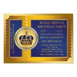 Príncipe festa de aniversário dos azuis marinhos e convite personalizado