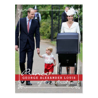 Príncipe George - princesa Charlotte - William Cartão Postal