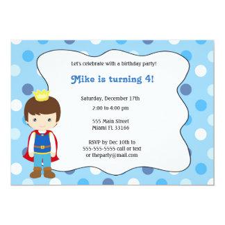 Príncipe Menino Aniversário Convite