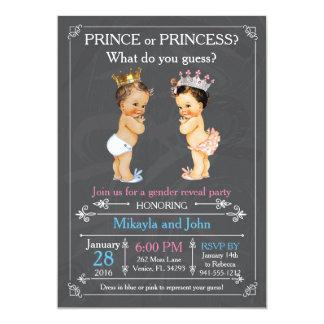 Príncipe ou princesa Género Revelação - Caucasian Convite 12.7 X 17.78cm