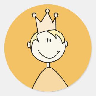 príncipe pequeno 03 adesivos em formato redondos