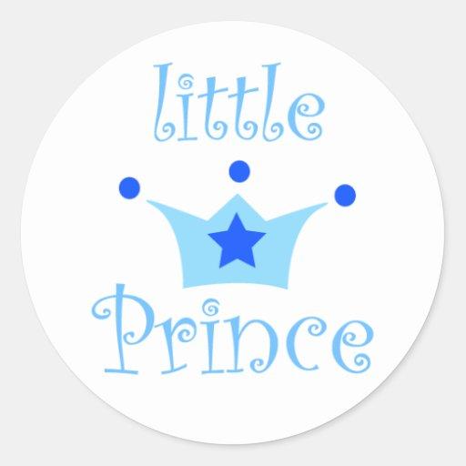 príncipe pequeno adesivos redondos