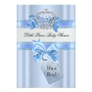 Príncipe pequeno azul Coroa do menino do chá de Convites Personalizado