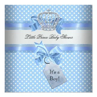 Príncipe pequeno azul Coroa do menino do chá de Convite