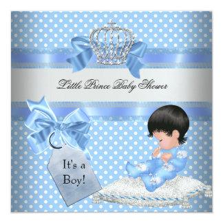 Príncipe pequeno azul Coroa do menino do chá de Convite Personalizados