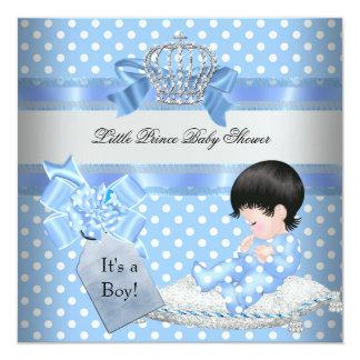 Príncipe pequeno azul Coroa do menino do chá de Convites