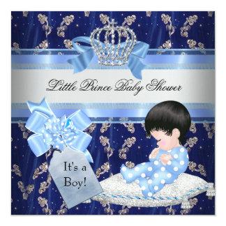 Príncipe pequeno azul Coroa do menino elegante do Convite Personalizados