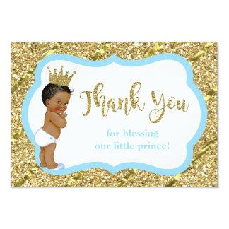 Príncipe pequeno cartões de agradecimentos, azul,