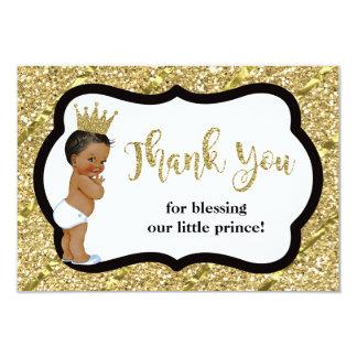 Príncipe pequeno cartões de agradecimentos, preto,