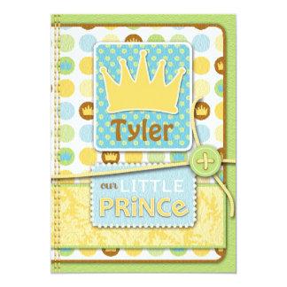 Príncipe pequeno Convite Convite 12.7 X 17.78cm