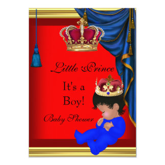 Príncipe pequeno elegante 2 do vermelho azul do convites